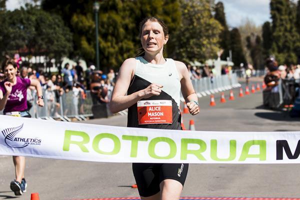Alice Mason, winner of the 2020 Rotorua Marathon (Alisha Lovrich)