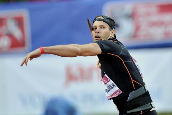 Tero Pitkamaki in the javelin at the IAAF World Challenge meeting in Zagreb (Organisers)
