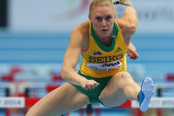 Sally Pearson in the 60m hurdles heats at the IAAF World Indoor Championships in Sopot (Getty Images)