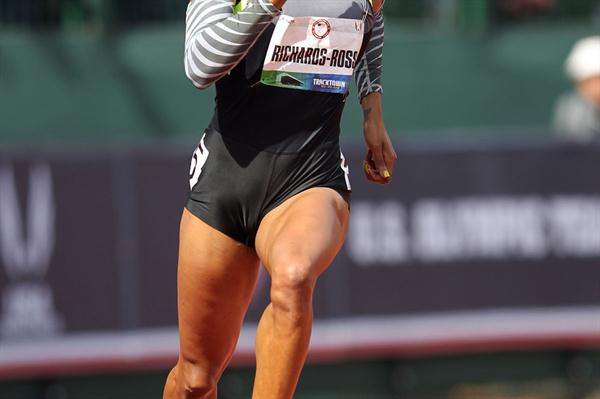 Sanya Richards-Ross in the 400m at the 2012 US Olympic Trials (Getty Images)
