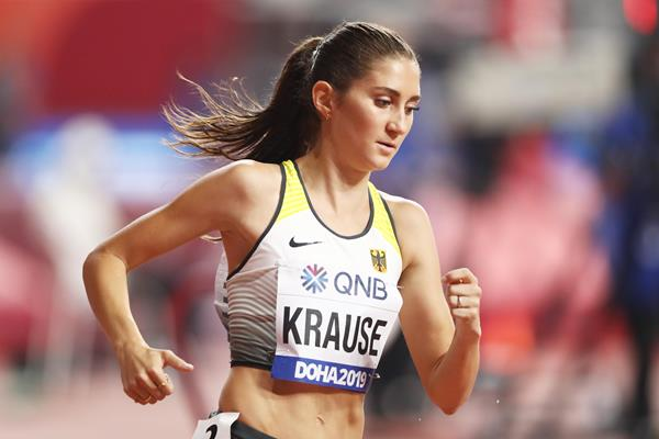 Gesa Felicitas Krause at the IAAF World Athletics Championships Doha 2019 (Getty Images)