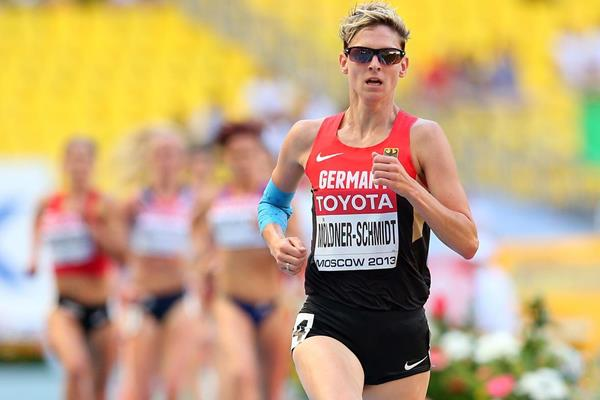 Germany's Antje Moldner-Schmidt in action in the steeplechase at the 2013 IAAF World Championships in Moscow (Getty Images)