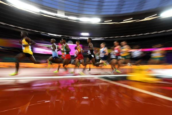 Runners in the men's 5000m heats at the IAAF World Championships London 2017 (Getty Images)