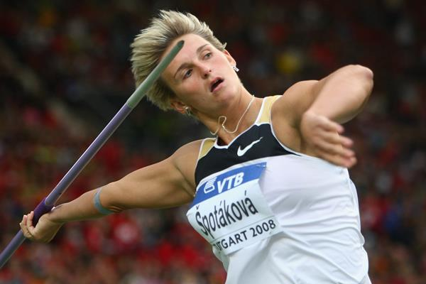 Barbora Spotakova in the javelin at the 2008 IAAF World Athletics Final in Stuttgart (Getty Images)