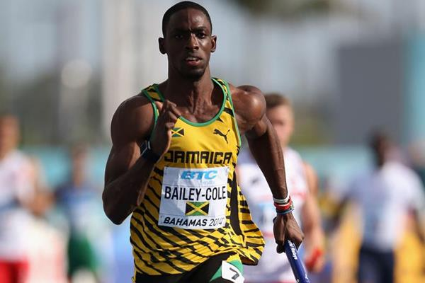 Jamaica's Kemar Bailey-Cole in the 4x100m at the IAAF World Relays (Getty Images)