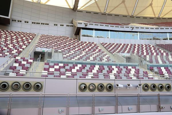 Cooling system at Khalifa Stadium in Doha (LOC)