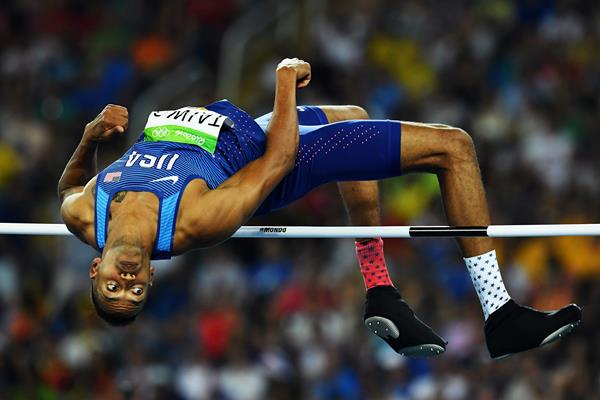 Jeremy Taiwo in the decathlon high jump at the Rio 2016 Olympic Games (Getty Images)
