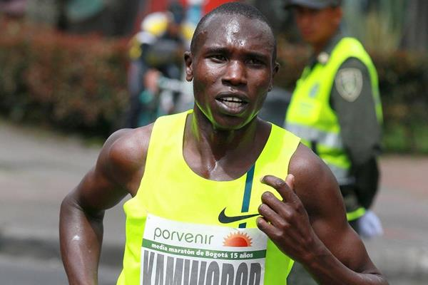 Geoffrey Kamworor Kipsang at the 2014 Bogota International Half Marathon (Victah Sailer / organisers)