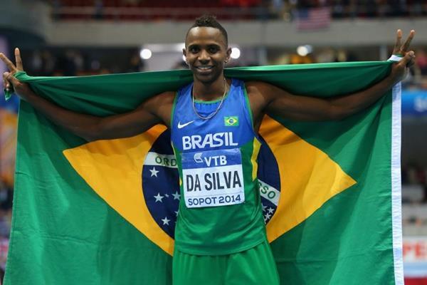 Long jump winner Mauro da Silva at the 2014 IAAF World Indoor Championships in Sopot (Getty Images)