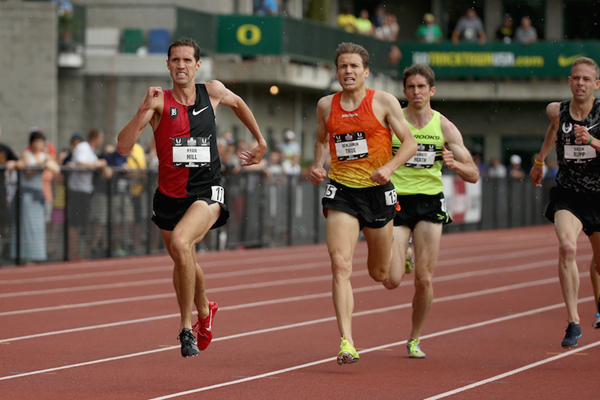 The men's 5000m final at the 2015 US Outdoor Championships ()