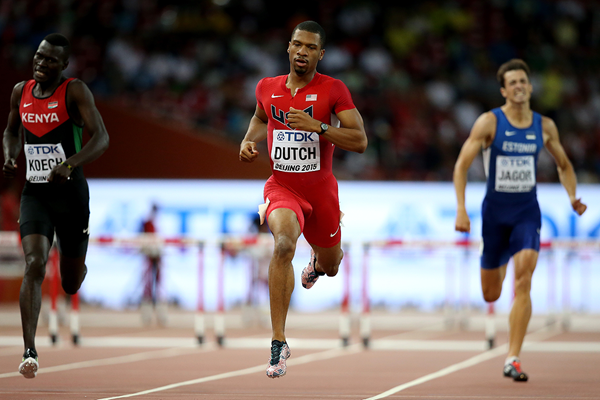 Johnny Dutch in the 400m hurdles at the IAAF World Championships Beijing 2015 (Getty Images)