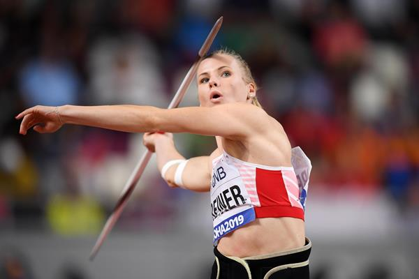 Verena Preiner at the IAAF World Athletics Championships Doha 2019 (Getty Images)