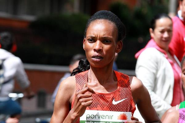 Rita Jeptoo at the Bogota International Half Marathon (Victah Sailer / organisers)