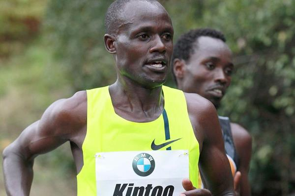 Mark Kiptoo in the 2014 BMW Frankfurt Marathon (organisers / Victah Sailer)