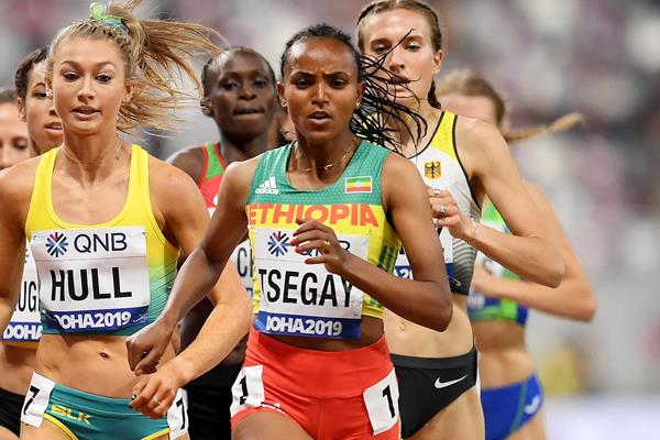 Gudaf Tsegay at the IAAF World Athletics Championships Doha 2019 (Getty Images)