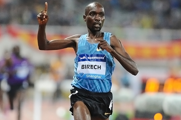 Jairus Birech, winner of the steeplechase at the IAAF Diamond League meeting in Shanghai (Errol Anderson)