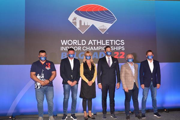 At the World Athletics Indoor Championships Belgrade 22 logo launch ceremony (LOC)