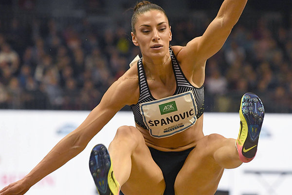Ivana Spanovic in the long jump at the ISTAF Indoor meeting in Berlin (Gladys Chai von der Laage)