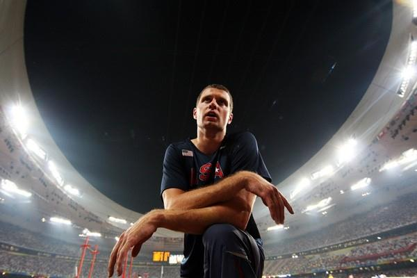 World champion Brad Walker no-heights in the qualifying of the men's pole vault (Getty Images)