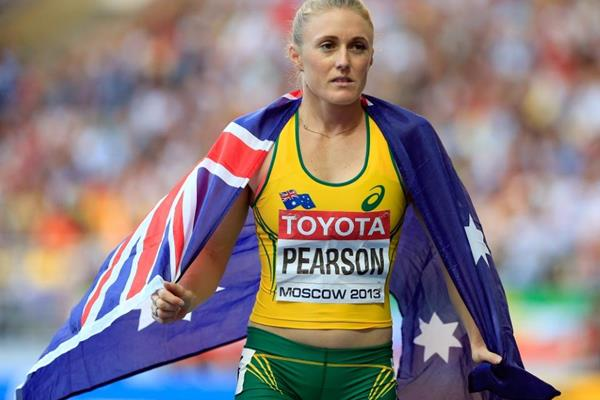 Sally Pearson in the womens 100m Hurdles Final at the IAAF World Athletics Championships Moscow 2013 (Getty Images)