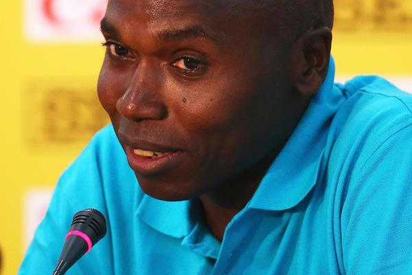 IAAF ambassador and former 800m world record-holder Wilson Kipketer at the press confrence ahead of the IAAF Continental Cup, Marrakech 2014 (Getty Images)