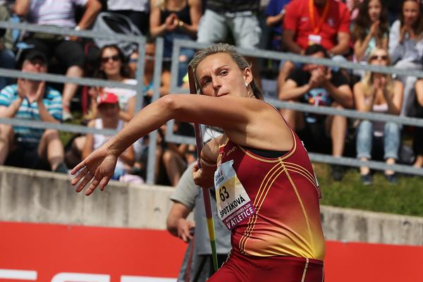 Barbora Spotakova in action at the Czech Championships in Tabor (Jan Kucharcik)