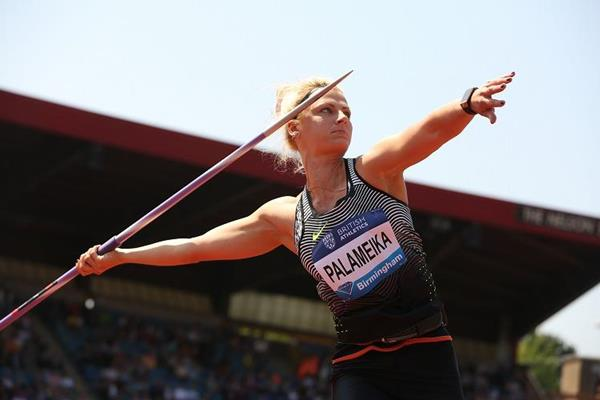 Madara Palameika at the 2016 IAAF Diamond League in Birmingham (Jean-Pierre Durand)