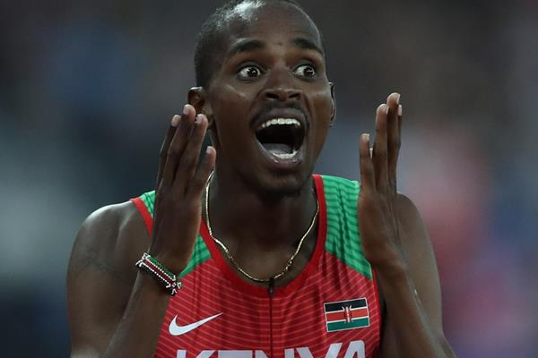 Elijah Manangoi after winning the 2017 world 1500m title (Getty Images)