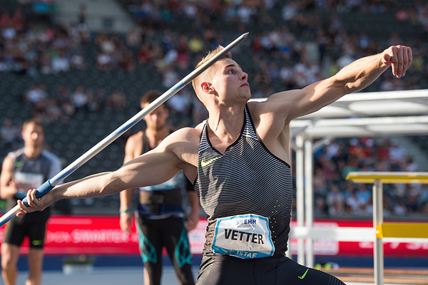 Johannes Vetter in the javelin at the ISTAF Meeting in Berlin (ISTAF)