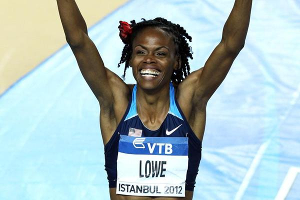 Gold medalist Chaunte Howard Lowe of the United States celebrates in the Women's High Jump Final during day two - WIC Istanbul (Getty Images )
