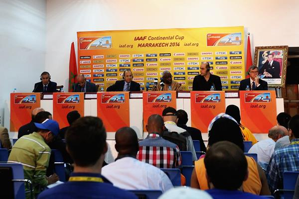 The press conference ahead of the IAAF Continental Cup, Marrakech 2014 (Getty Images)