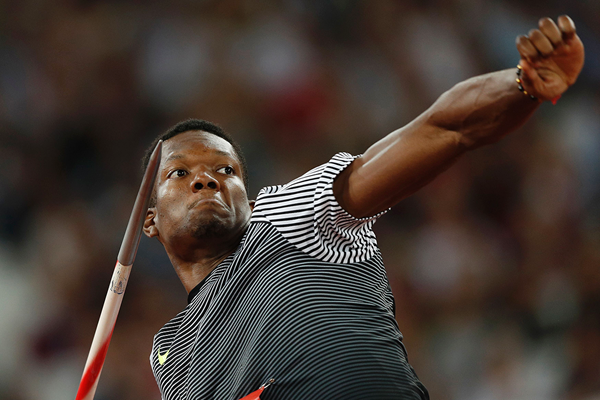 Trinidad and Tobago's Keshorn Walcott in action in the javelin (AFP / Getty Images)