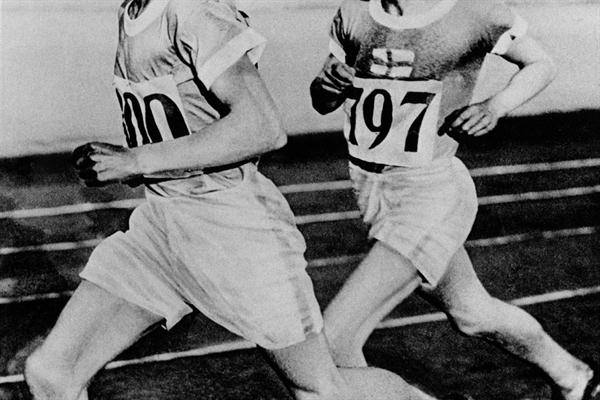 IAAF Hall of Fame - Paavo Nurmi (FIN) follows compatriot Ville Ritola in the 1928 Olympic 10,000m (Getty Images)