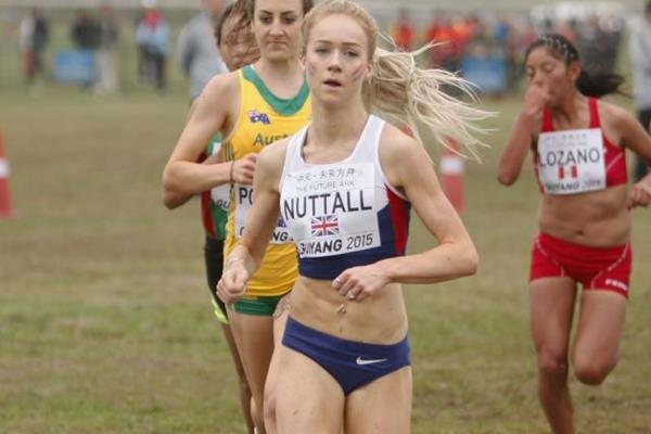 Britain's Hannah Nuttall in the junior women's race at the IAAF World Cross Country Championships, Guiyang 2015 (Getty Images)