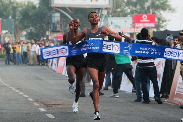 Victory for Ethiopia's Mosinet Geremew (Organisers)