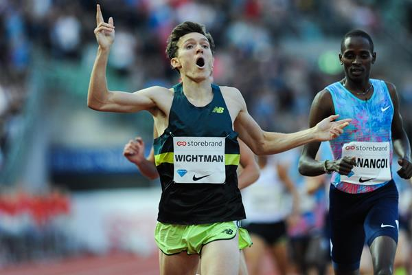 Jake Wightman winning the Oslo 1500m (Jean Pierre Durand)