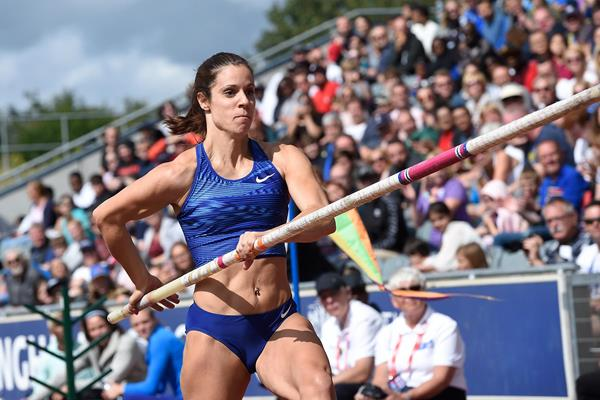 Katerina Stefanidi, winner of the pole vault at the IAAF Diamond League meeting in Birmingham (Mark Shearman)