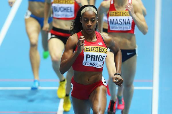 Chanelle Price winning 800m gold at Sopot 2014 ()