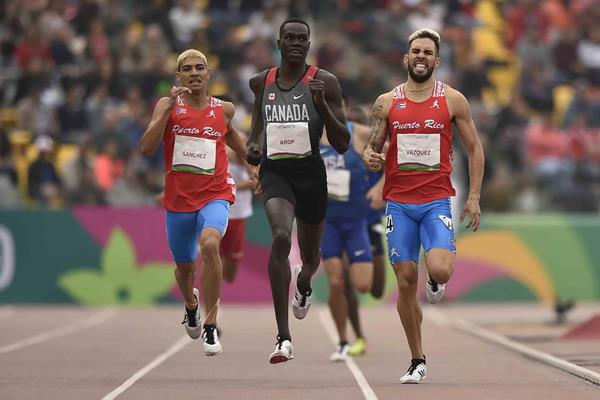 Pan-American Games 800m champion Marco Arop (AFP/Getty Images)
