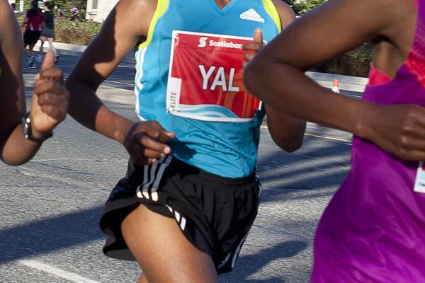 Koren Yal at the 2011 Toronto Waterfront Marathon (Toronto Waterfront Marathon organisers)