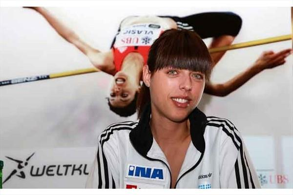 Blanka Vlasic at the press conference to promote the Weltklasse Zürich (Marcel Giger)