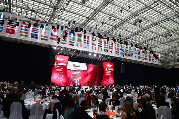 The IAAF Congress Opening Dinner at Moscow's Gostiny Dvor (Getty Images)