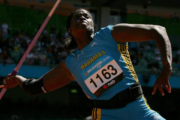Laverne Eve (BAH) at the 2006 Commonwealth Games (Getty Images)