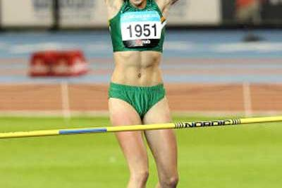 Anika Smith (RSA), women's High Jump champion - Melbourne (AFP / Getty Images)