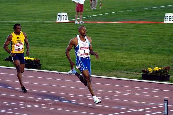 Frankie Fredericks in Madrid (IAAF)