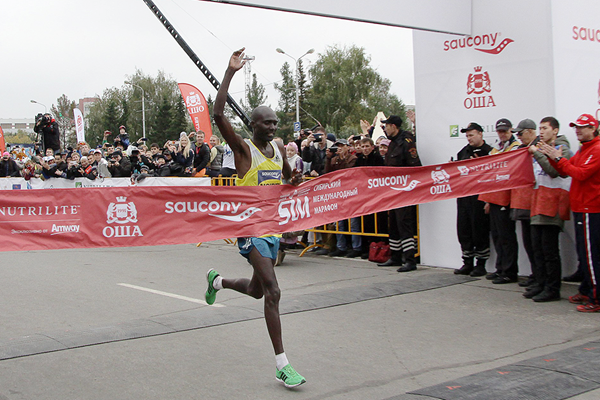 Laban Moiben wins the Siberian International Marathon (Organisers)