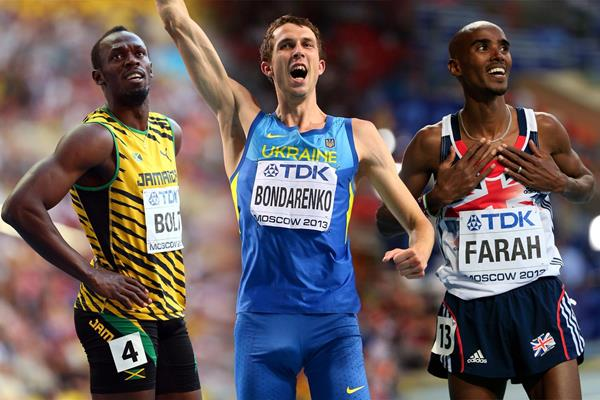 The 2013 IAAF Athlete of the Year men's finalists (Getty Images)