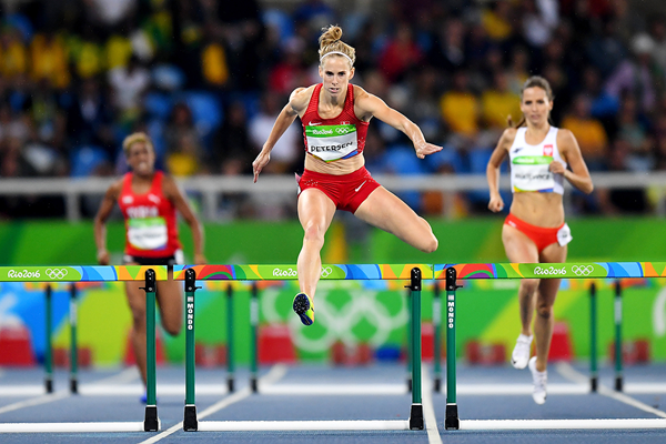 Sara Petersen in the 400m hurdles at the Rio 2016 Olympic Games (Getty Images)