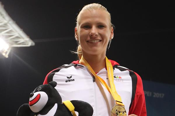 World University Games heptathlon champion Verena Preiner of Austria in Taipei City (Organisers)