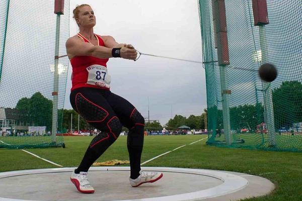 Betty Heidler at the 2013 IAAF Hammer Throw Challenge meeting in Szczecin (Marek Biczyk)